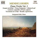 Mendelssohn: Piano Works, Vol. 3 (CD)