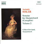 Soler: Harpsichord Sonatas, Vol. 2 (CD)