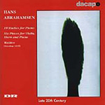 Abrahamsen: 10 Studies for Piano; Six Pieces for Violin, Horn & Piano; Walden (CD)