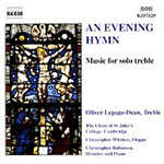 An Evening Hymn - Works for Solo Treble (CD)