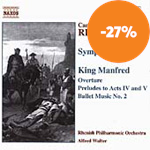 Produktbilde for Reinecke: Symphony No. 1. King Manfred - Excerpts (CD)