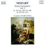 Mozart: Piano Variations, Vol. 3 (CD)