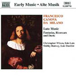 Francesco Canova da Milano: Lute Music (CD)