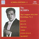 Tito Schipa Edition, Vol 1 - The Complete Recordings 1922-24, Vol 1 (CD)