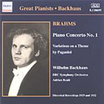 Brahms: Piano Concerto No 1; Piano Works (CD)