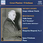 Great Pianists - Friedman, Vol 4 (CD)