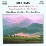 Brahms: Four Hand Piano Music, Vol 14 (CD)
