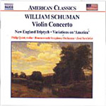 Ives: Variations on America; Schuman: Violin Concerto; New England Triptych (CD)
