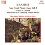 Brahms: Four Hand Piano Music Vol 3 (CD)