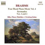 Brahms: Four Hand Piano Music, Vol 4 (CD)