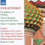 Stravinsky: Symphony of Psalms; Mass; Cantata (CD)