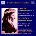 Chausson; Mozart; Paganini: Works for Violin and Orchestra (CD)