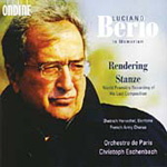 Berio: Stanze; Schubert/Berio: Rendering (CD)