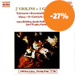 Produktbilde for Works for two violins and guitar (CD)