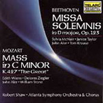 Beethoven: Missa Solemnis. Mozart: Mass in C minor (CD)