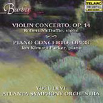 Barber: Piano and Violin Concertos. Souvenirs (CD)