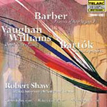 Barber/Bartók/Vaughan Williams: Choral Works (CD)