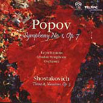 Popov: Symphony No 1; Shostakovich: Theme and Variations (SACD)