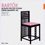 Bartók: String Quartets 1 & 2; (44) Duos for Two Violins (CD)