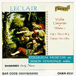 Leclair: Violin Concertos, Vol. 1 (CD)