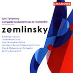 Zemlinsky: Lyric Symphony; Cymbeline - complete incidental music (CD)