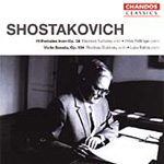Shostakovich: Works for Violin and Piano (CD)