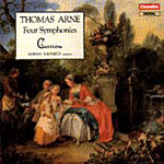Arne: 4 New Overtures or Symphonies (CD)