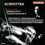 Schnittke: Symphony No 8; Concerto Grosso No 6 (CD)