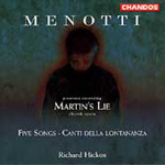 Menotti: Martin's Lie & Songs (CD)