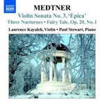Medtner: Complete Works for Violin and Piano, Vol 1 (CD)