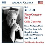 Rorem: Piano Concerto No 2; Cello Concerto (CD)