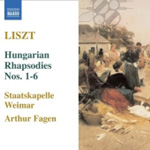 Liszt: Hungarian Rhapsodies, Nos 1-6 (CD)