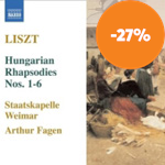 Produktbilde for Liszt: Hungarian Rhapsodies, Nos 1-6 (CD)