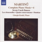 Martinu: Piano Works, Vol 4 (CD)