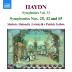 Haydn: Symphonies Nos 25, 42 and 65 (CD)