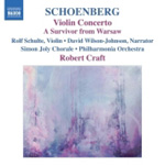 Schoenberg: Violin Concerto; (A) Survivor from Warsaw (CD)