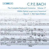 C.P.E. Bach: Keyboard Concertos, Vol 17 (CD)