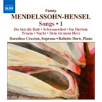 Mendelssohn-Hensel: Songs, Vol 1 (CD)
