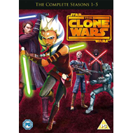 Star Wars - The Clone Wars - Sesong 1 - 5 (UK-import) (DVD)