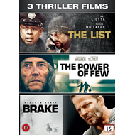 3 Thriller Films - The List / The Power Of Few / Brake (DVD)