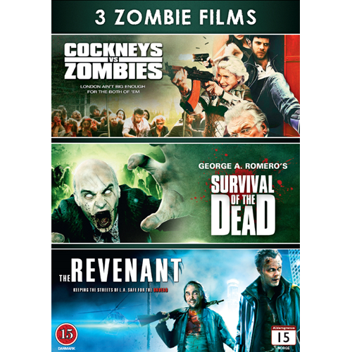 3 Zombie Films - Cockneys Vs. Zombies / Survival Of The Dead / The Revenant (DK-import) (DVD)