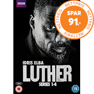 Produktbilde for Luther - Sesong 1 - 4 (UK-import) (DVD)