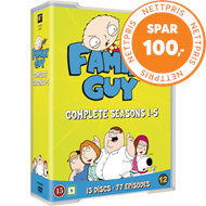 Produktbilde for Family Guy - Sesong 1 - 5 (DVD)