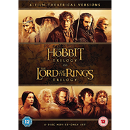 Produktbilde for The Hobbit Trilogy/The Lord of the Rings Trilogy (UK-import) (DVD)