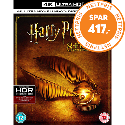 Harry Potter: The Complete 8-Film Collection (UK-import) (4K Ultra HD + Blu-ray)