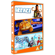 Produktbilde for Robots/Ice Age/Garfield: The Movie (UK-import) (DVD)