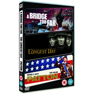 Produktbilde for The Longest Day/A Bridge Too Far/Patton (UK-import) (DVD)