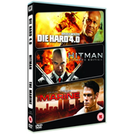 Die Hard 4.0/Hitman/The Marine (UK-import) (DVD)