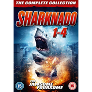 Produktbilde for Sharknado 1-4 (UK-import) (DVD)