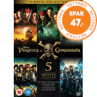 Produktbilde for Pirates Of The Caribbean: 5-Movie Collection (UK-import) (DVD)
